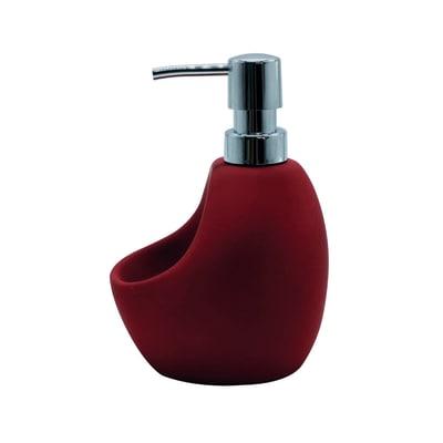 Porta sapone rosso L 10 x P 12 x H 16,5 cm