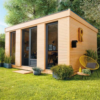 casetta in legno grezzo Decor Home 15 15,25 m², spessore 90 mm