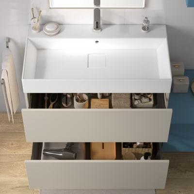 Mobile bagno Neo Line L 90 x P 48 x H 64 cm 2 cassetti dorè