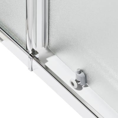 Box doccia scorrevole Nerea 77.5-89 x 77,5-89, H 185 cm cristallo 4 mm granito/silver