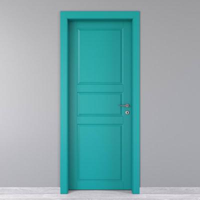 Porta da interno battente New York azzurro 70 x H 210 cm sx