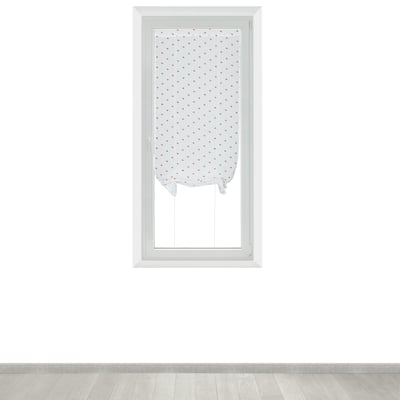 Tendina a vetro regolabile per finestra Andorra bianco e rosso 60 x 150 cm