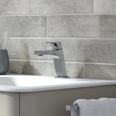 Mobile bagno Liverpool grigio natura L 140 cm