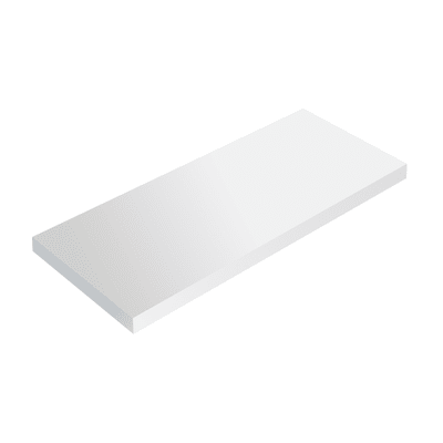 Mensola Spaceo bianco L 56 x P 15,5, sp 1,8 cm