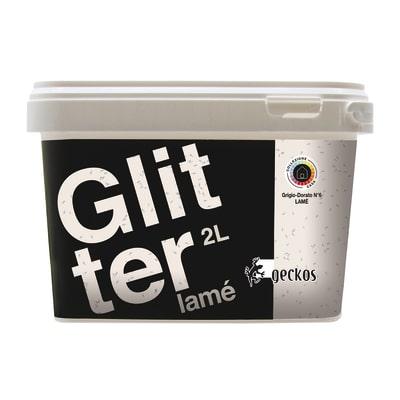 Pittura ad effetto decorativo Glitter Lamé Grigio Dorato 6 2 L