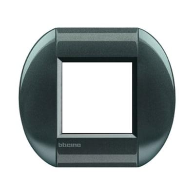 Placca 2 moduli BTicino Livinglight acciao