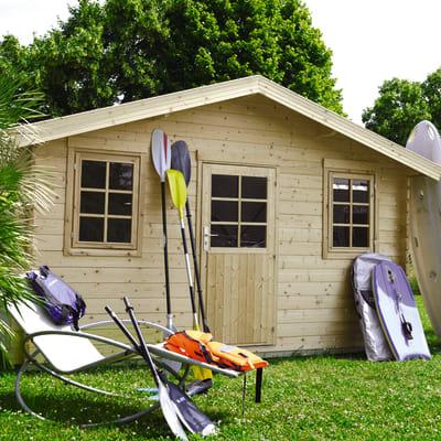 casetta in legno grezzo Tilli 11,51 m², spessore 34 mm