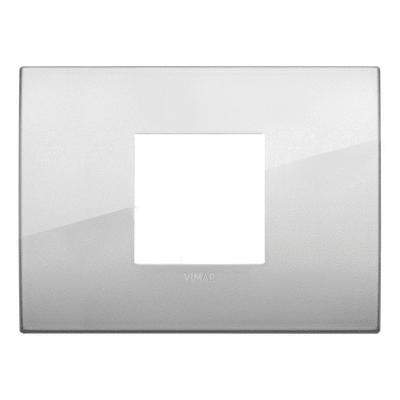 Placca 2 moduli Vimar Arkè argento