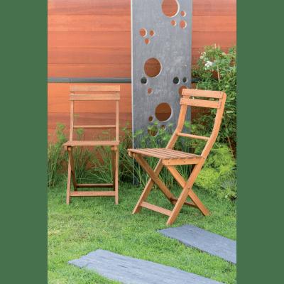 Set 2 sedie pieghevole acacia