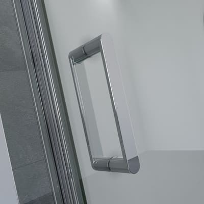 Box doccia battente Cara 86.5-89 x 86,5-89, H 195 cm laminato 8 mm trasparente/silver