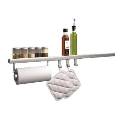 Kit porta accessori cucina Level 90 inox
