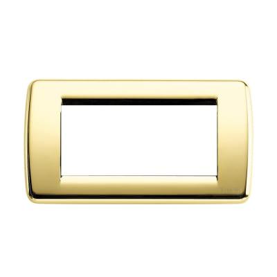 Placca 4 moduli Vimar Idea oro lucido