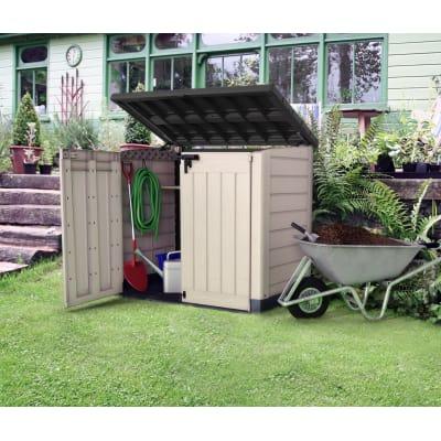 Box porta attrezzi conquer shed prezzi e offerte online leroy merlin - Box porta attrezzi da giardino in pvc ...