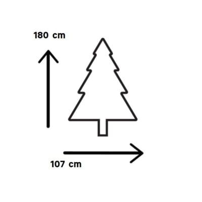 Albero di Natale artificiale Montana H 180 cm