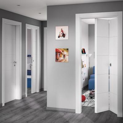 Porta da interno rototraslante Prado bianco 70 x H 210 cm sx