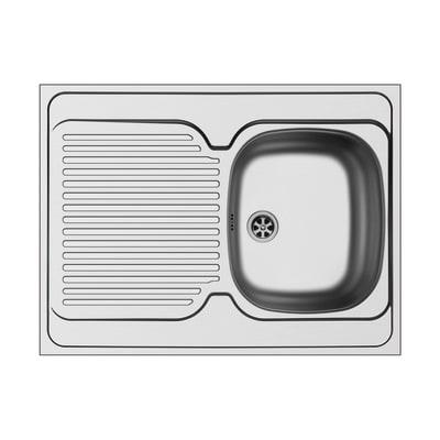 Lavello appoggio Dioniso L 80 x P  60 cm 1 vasca + gocciolatoio