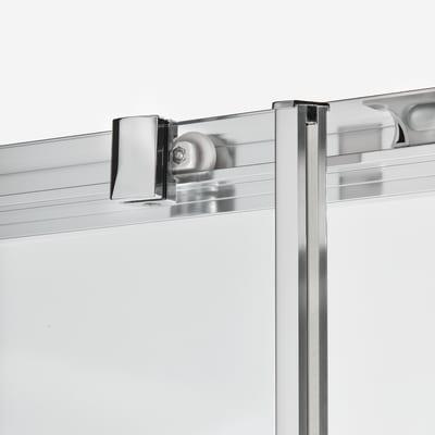 Box doccia scorrevole Dado 67.5-69 x 67,5-69, H 185 cm cristallo 5 mm stampato/silver