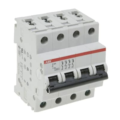 Interruttore magnetotermico ABB ELS204-C16 3P+N 6 A