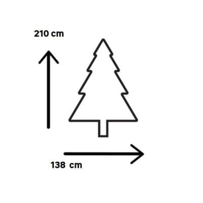 Albero di Natale artificiale Windsor H 210 cm