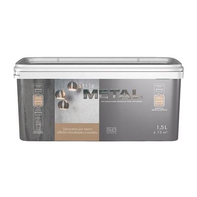 Pittura ad effetto decorativo Stile Metal Alluminio 1,5 L