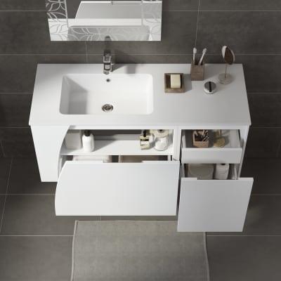 Mobile bagno Soft bianco L 116,5 cm