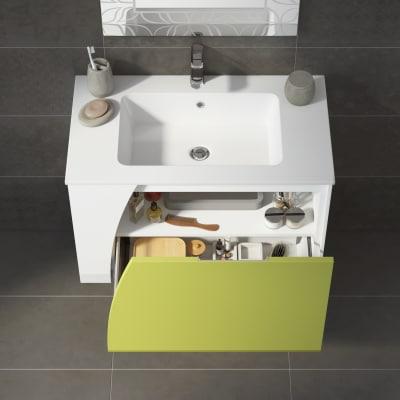 Mobile bagno Soft verde acido L 80,5 cm