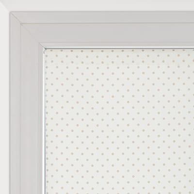 Tendina a vetro per portafinestra Pois panna 90 x 240 cm