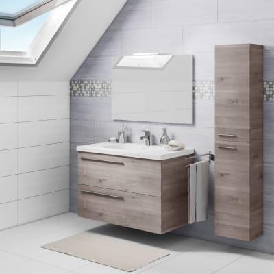 Mobile bagno Elea grigio L 91 cm