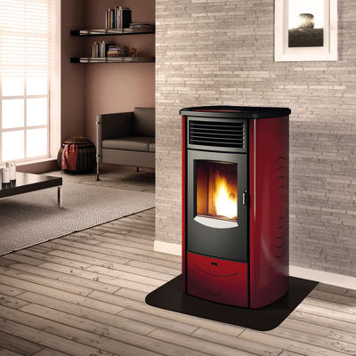 Stufa a Pellet Monia 8,5 kW bordeaux