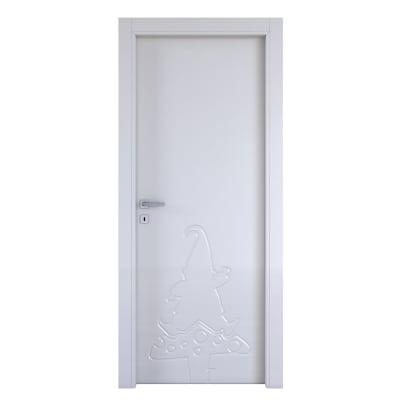 Porta da interno battente Dwarf silk 60 x H 210 cm dx