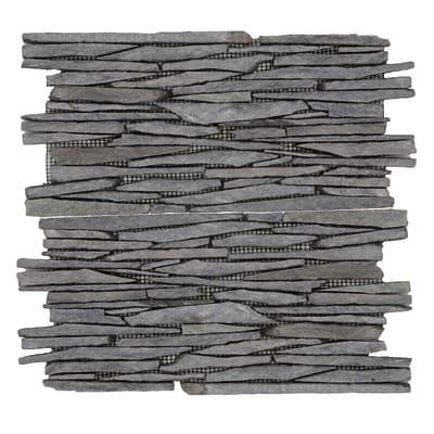 Formella Lamistone nero 30 x 30 cm