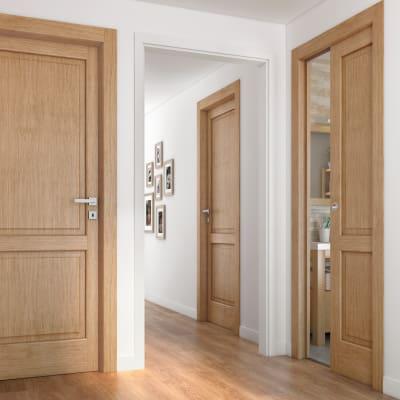 Porta da interno battente Bernini rovere miele 80 x H 210 cm dx