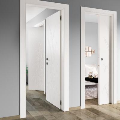 Porta da interno battente Blades white bianco 60 x H 210 cm dx