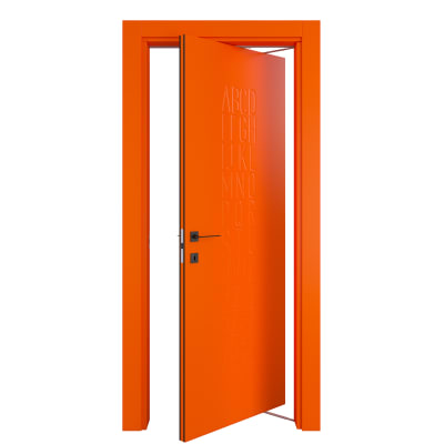 Porta da interno rototraslante Keyboard orange arancio 80 x H 210 cm dx