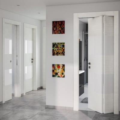 Porta da interno battente Melangè bianco 80 x H 210 cm dx