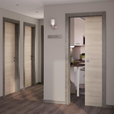 Porta da interno scorrevole Mixage grey grano 70 x H 210 cm reversibile