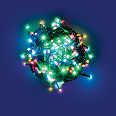 Catena luminosa 180 minilucciole Led multicolore 7,5 m