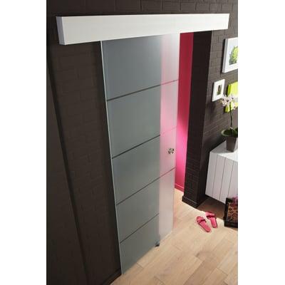 Porta da interno scorrevole miami satinato 86 x h 215 cm reversibile prezzi e offerte online - Porte interno leroy merlin ...