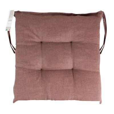 Cuscino per sedia Carlo marrone 40 x 40 cm