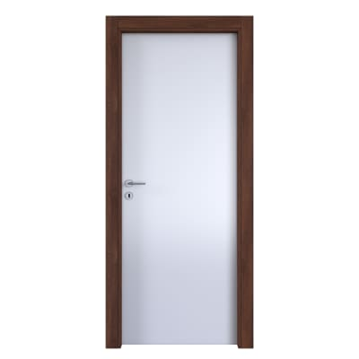 Porta da interno battente One bianca/brown 80 x H 210 cm reversibile
