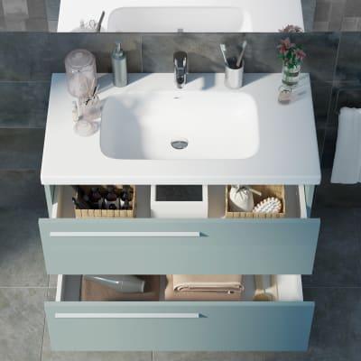 Mobile bagno Elea azzurro L 91 cm