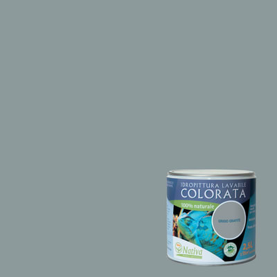 Idropittura lavabile Bio grafite 2,5 L Nativa