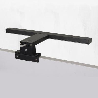 Luce da specchio Slim con kit multi attacco nero 50 cm 7,8 W 550 Lumen led integrato IP44