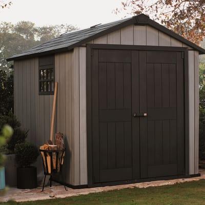 casetta in Duo Tech (polipropilene e polvere di cemento) Oakland 757 Keter 4,04 m²