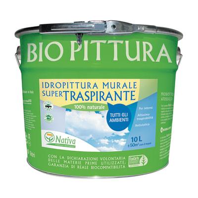 Idropittura traspirante bianca Nativa Bio 10 L