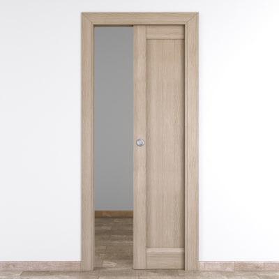 Porta da interno scorrevole Etamin paglia 80 x H 210 cm reversibile
