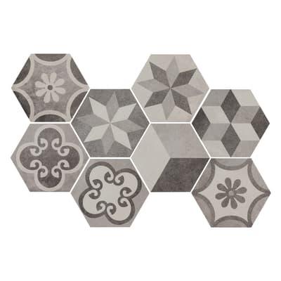 Piastrella Time Hexagone 21 x 18,2 cm multicolor