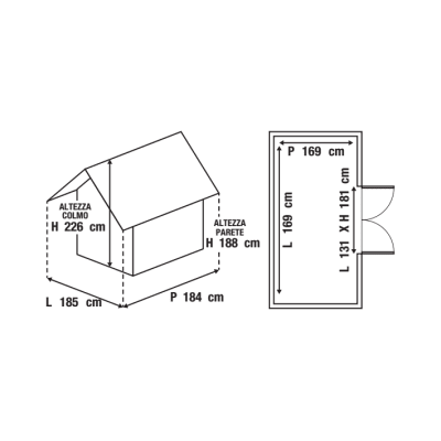 casetta in polipropilene Lineus 6x6 2,86 m²
