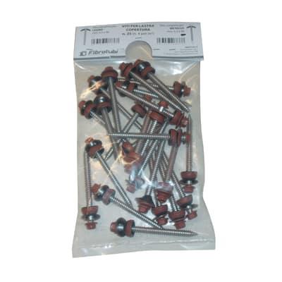 Viti per metallo per lastra Isocoppo rosso ø 6 x 120 mm, confezione da 25 pezzi