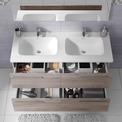 Mobile bagno Elea marrone L 122 cm